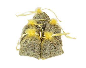 Bridal Shower Sachet Bags, 12PCS Wedding Favor French Aromatic Lavender Sachets, Fragrant Potpourris Dried Lavender Buds Sachets - LS001-7