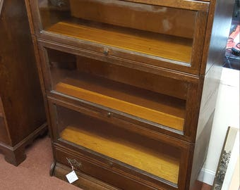 Sectional Oak Barristers Bookcase