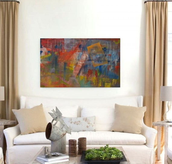 Large Artwork Original Painting Abstract Painting Modern Art On Canvas Contemporary Art Deco Large Art Airbrush Art Gift Colorful Painting