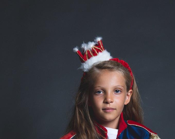 Headband Christmas wreath, Christmas wreath headband, faux fur, red velvet, TU