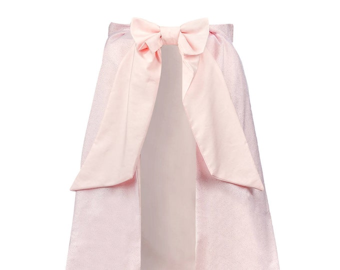 "Powderpink princess cape, luxury girl fancy dress, cotton cape, sequined tulle, to be paired with the child costume ""Princess Lena"""