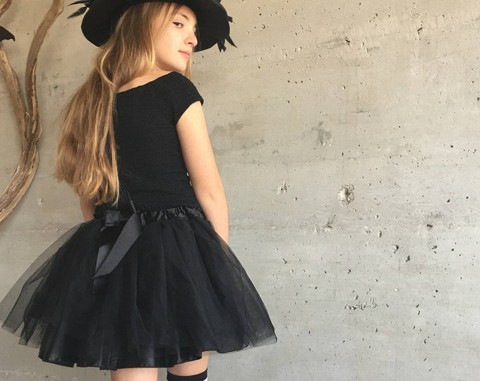 Tutu in black tulle extra volume