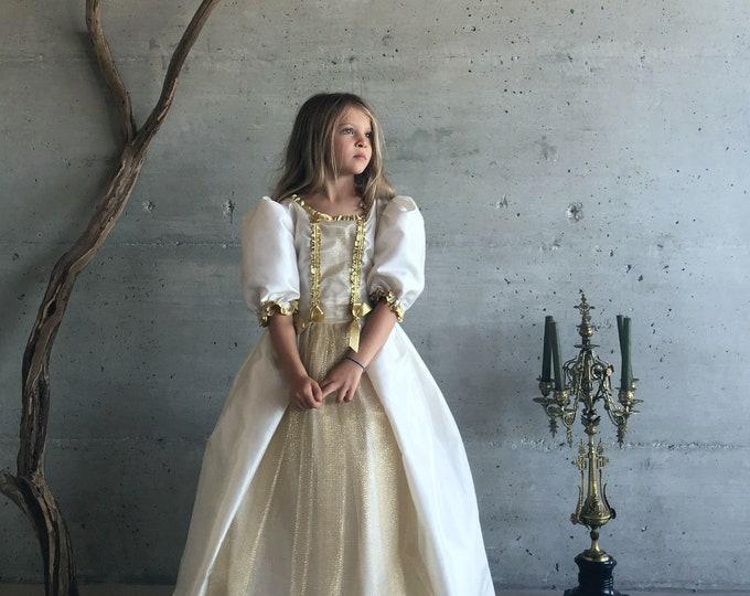 Color of The Sun dress, luxury child deguisement, taffeta tulle