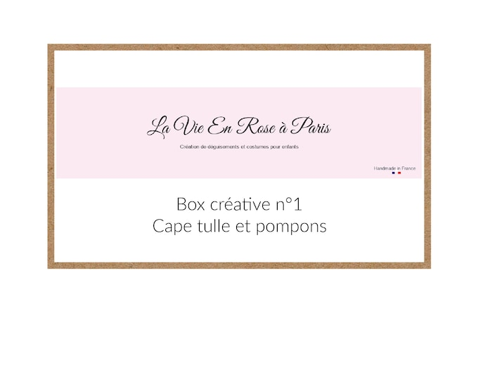 BOX CREATIVE: tulle cape and decorative pompoms