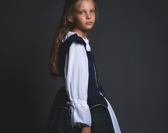Medieval Renaissance girl costume, Merida deguisement inspired by Disney Rebel cartoon, Celtic princess costume