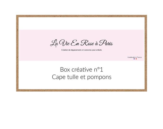 BOX CREATIVE: tulle cape and decorative pompoms
