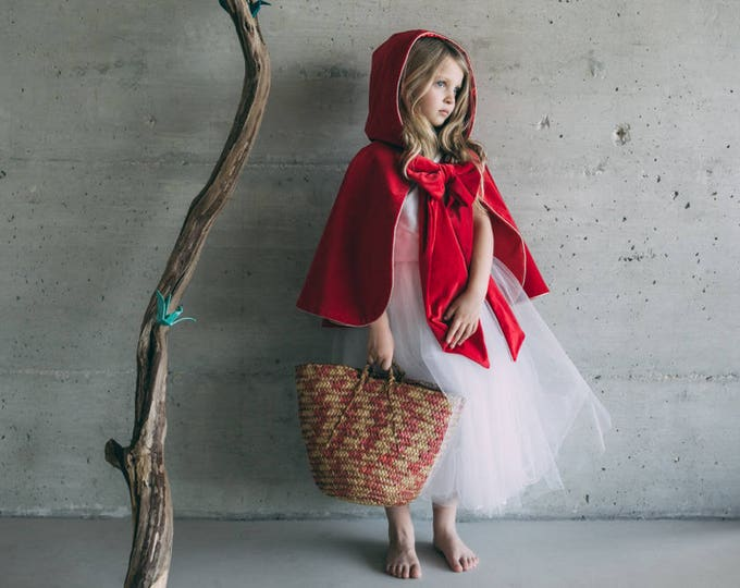Little Red Riding Hood cape, disguise for kids made in France