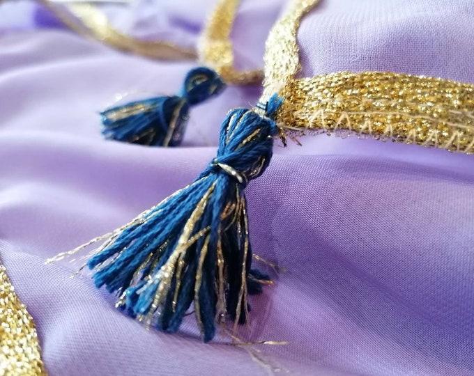 Esmeralda girl costume, Esmeralda luxury costume, satin skirt, cotton tunic, waist cincher, handmade