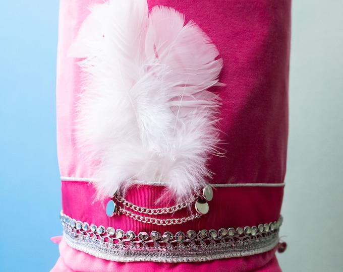 Pink velvet hat model The Pink Soldier, Nutcracker