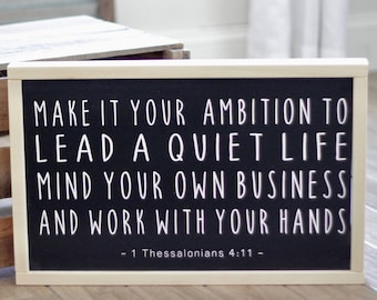 Best Seller! Make it your Ambition - 1 Thessalonians 4:11