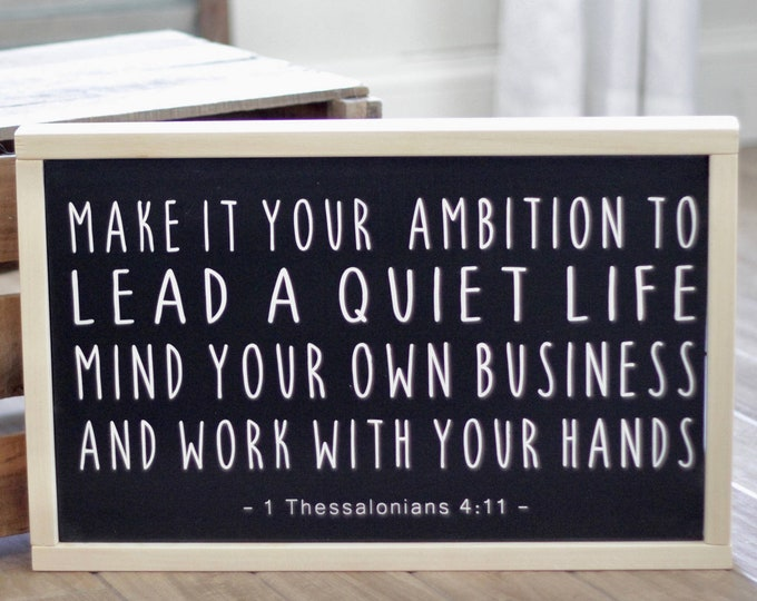 Featured listing image: Best Seller! Make it your Ambition - 1 Thessalonians 4:11