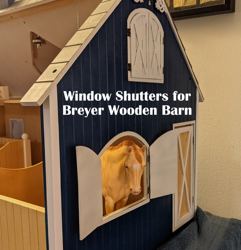 Window Shutters for Breyer Traditional 1:9 Scale Wooden Barn image 0