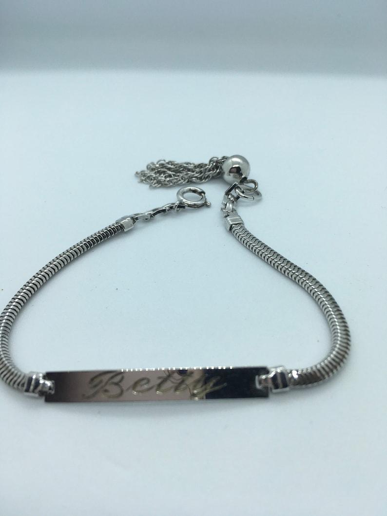 Elco Sterling Silver ID Bracelet Betty RARE