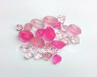 Edible candy diamonds