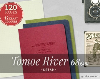 120 Pages- Tomoe River Cream 68gsm Midori Inserts - Bullet journal - Notebooks and Planners - Scrapbooking - Fountain Pen - A5 - B6 -B6 Slim
