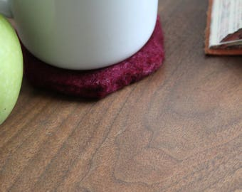 100% Wool Mulberry Hexagon Felt Coaster