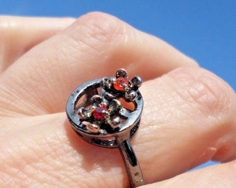 RING fancy black peace and love (BA59-82)