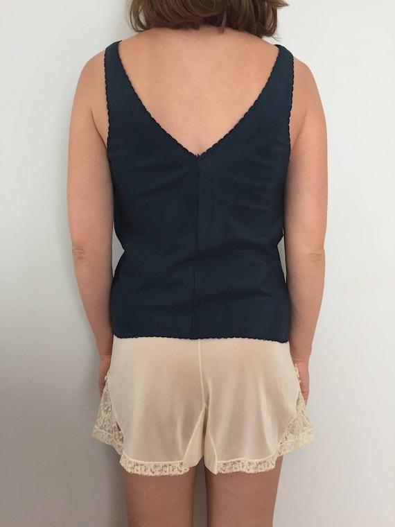 Lord   Taylor Pajama Top   Lady Lynne Size P Lingerie Tank Top   Navy Blue  PJ s   Vintage 80s Slip Top b8f2d0d43bc55