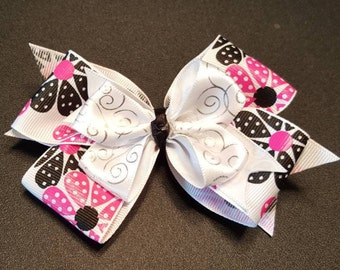 Large Stacked Boutique Hair Bow