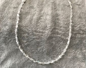 19 inch Clear Crystal Necklace