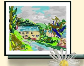 North Devonshire farmhouse settlement
