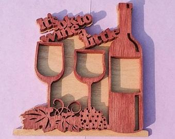 Home Decor Kitchen Sign Wine Decor Wine Bottle Decor Wine Etsy