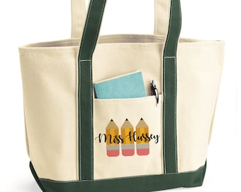 Canvas Tote Bag Teacher Gift Make My Papers Look Graded Tote Bag Teacher Appreciation Teacher Zipper Tote Bag Teacher Life