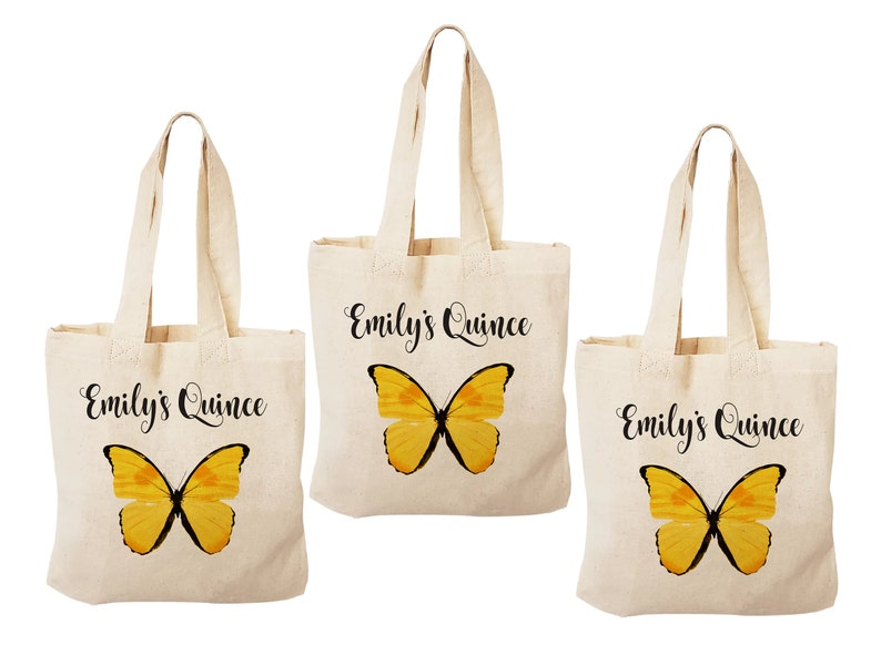 Butterfly Party Quincea\u00f1era Treat Bags Party Favor Bags Treat Bags Quincea\u00f1era Goodie Bags 3 Quince Treat Bags Quincea\u00f1era Party Bags