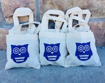 6 Owl Party Favor Bags, Owl Party Favors, Owl Treat Bags, Party Favor Bags, Owl Birthday Party, Owl Party, Owl Party Decor, Owl Bags, Owls