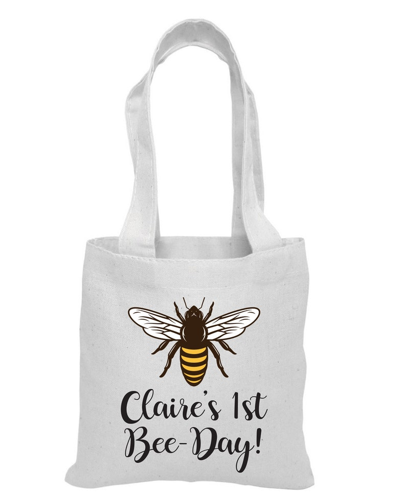 Bee-Day 6 Bee Party Favor Bags Bee Party Bee Party Favors Party Favor Bags Cotton Party Bags Bags Bee Party Favors Bee Treat Bags
