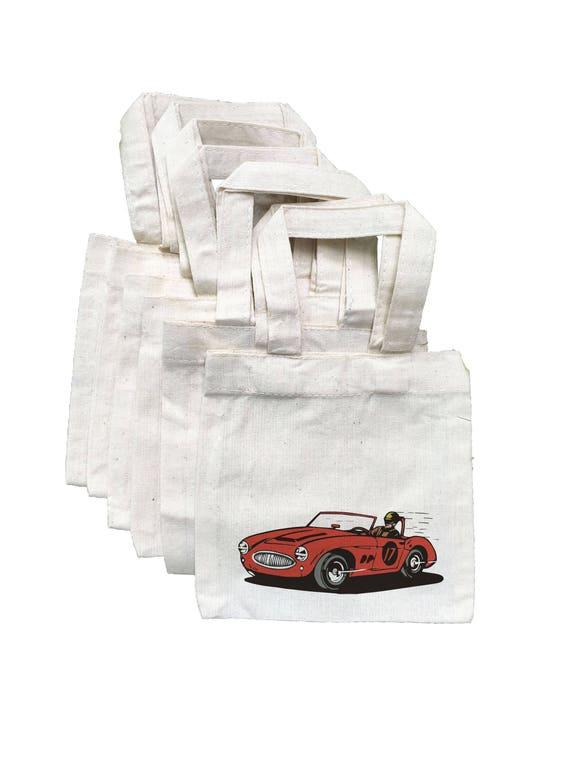 6 Race Car Treat Bags Boys Party Favor Birthday