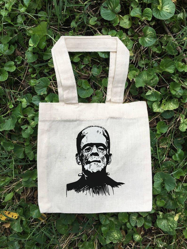 Halloween Party Favor Bags Halloween Party Cotton Party Bags Frankenstein Treat Bags Frankenstein Bags Party Favor Bags Halloween Bags