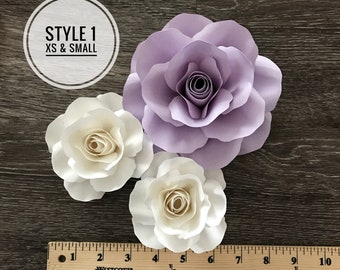 SVG Style 1 XS/Small Rose Template