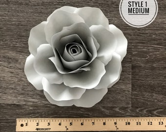 PDF/SVG Style 1 Medium Rose Template