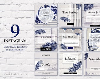 Bricks and cement Instagram Template Pack   Instaquotes, Social Media Design, Social Branding, Instagram Design   Instant Download
