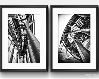 Black & White ARCHITECTURE/ Wall Art Photos, Set of 2 photos.