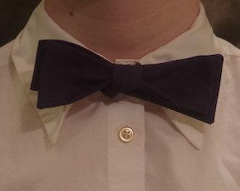 Navy Blue Self- Tie Bow Tie
