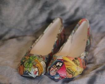 Custom Comic Shoes