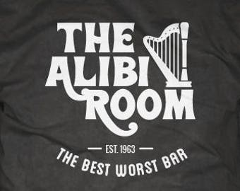 66ad394fc Shameless T-Shirt - The Alibi Room, bar and pub, St. Patricks Day tee shirt,  TV show, comedy, drama, series, alcohol, beer, frank gallagher
