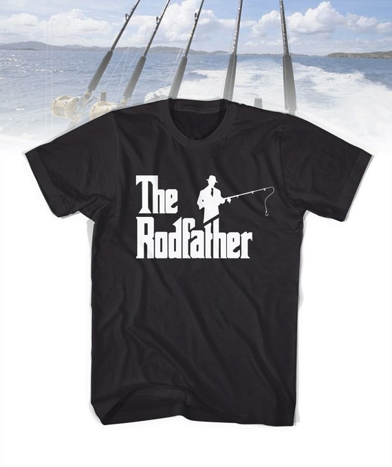 Mens Tank Top The Rodfather Shirt Funny Fishing T-Shirt Gift Daddy Fathers Day