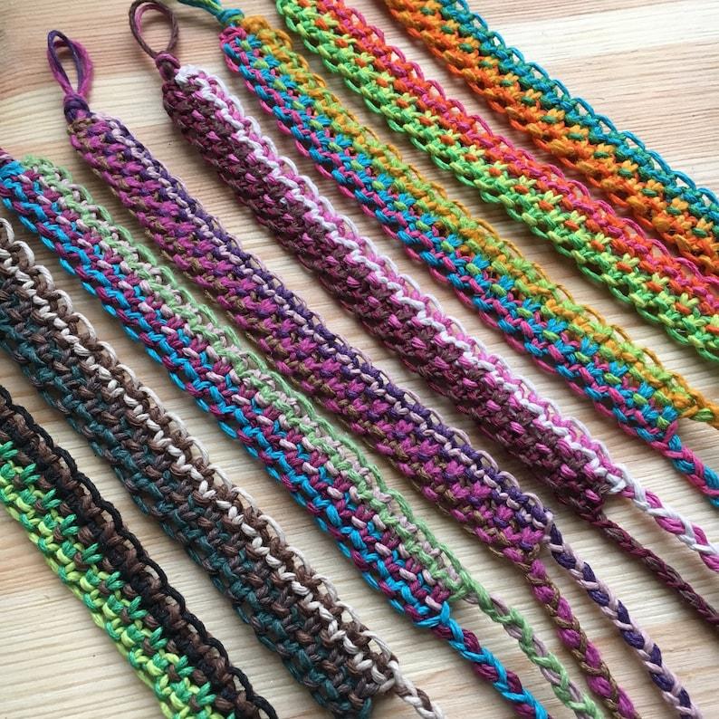 fits most wrists unisex hemp jewelry Biodegradable hemp bracelet colorful eco-friendly jewelry