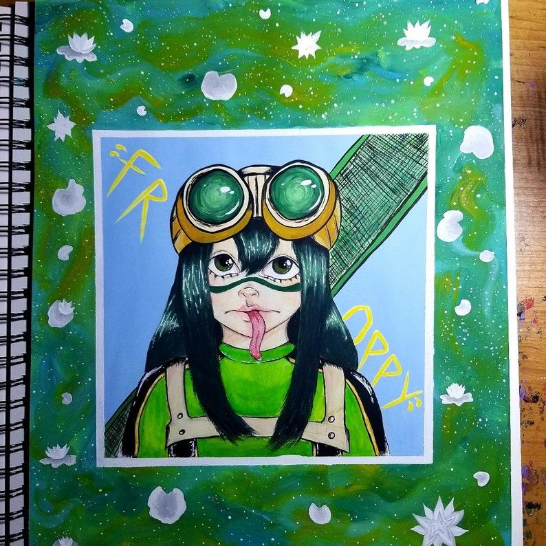 My Hero Academia Tsuyu Asui Froppy Painting