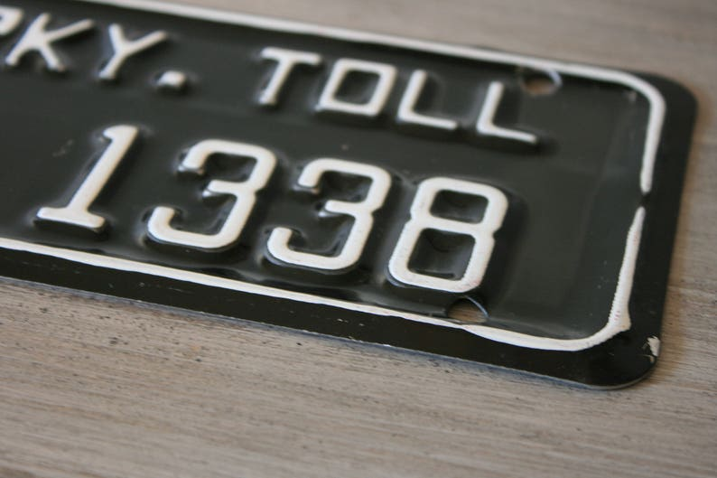 Connecticut Parkway Parkway Toll License Plates 1980/'s