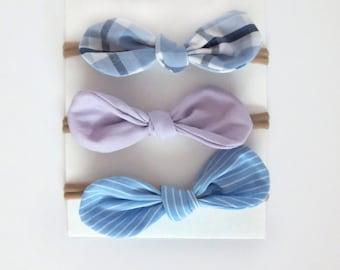 Knotted Headband / Baby Girl Headbands / Nylon Headband / Top Knot Headband / Headband Set / Toddler Headband  Baby Headband / Gift For Baby