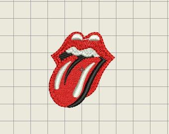 Embroidery design Rolling Stones Lengua logo