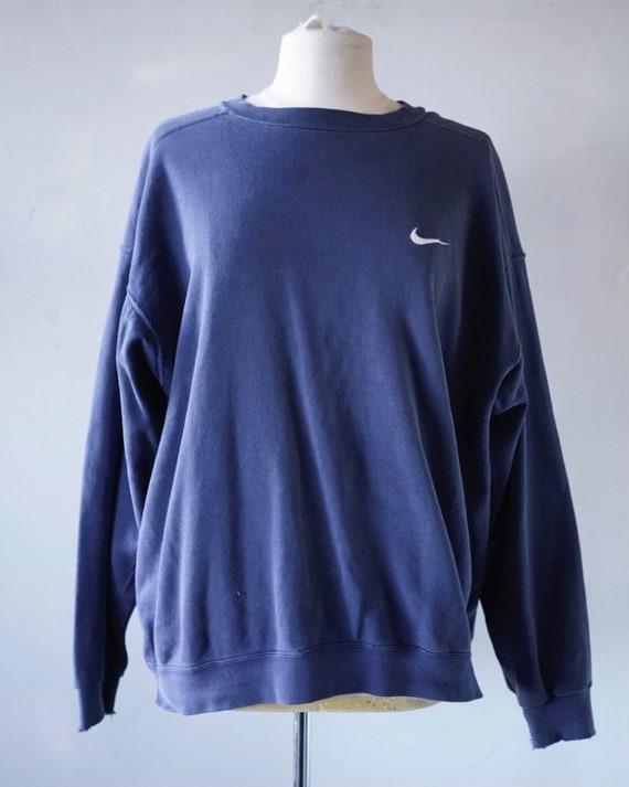 Faded Distressed Nike Crew Sweatshirt