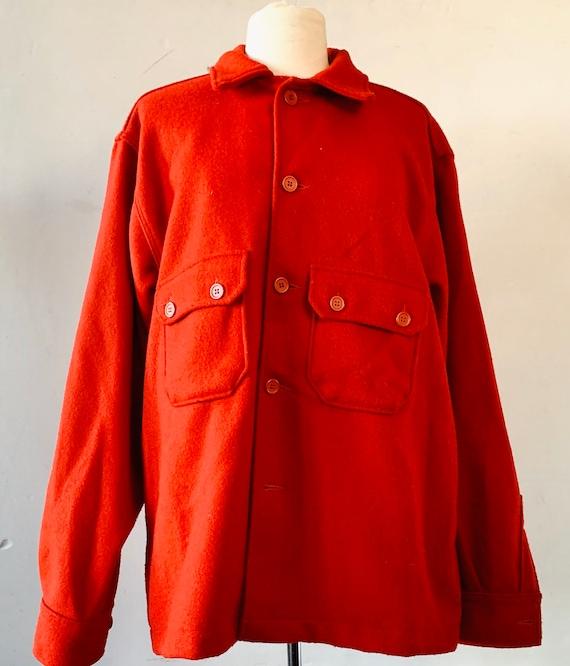 Red Wool Jacket Shirt