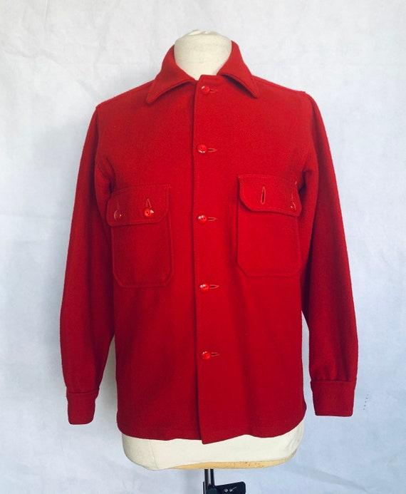 Vintage Red Wool Jacket Shirt