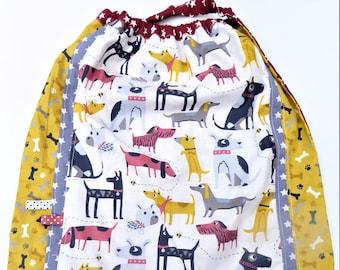 Towel to put on single, large bib, towel native, dogs.