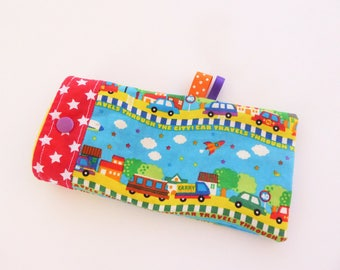 """Case sunglasses, cover, pouch glasses kids fleece and cotton """"Cars"""""""